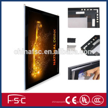 Aluminium frame magnetic LED slim light box with suction cup