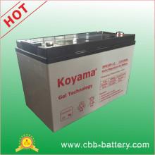 Batterie de gel marin de batterie de gel de 12V100ah, batterie solaire de gel, batterie profonde de gel de cycle, batterie au plomb