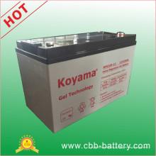 Bateria marinha do gel da bateria do gel de 12V100ah, bateria solar do gel, bateria profunda do gel do ciclo, bateria acidificada ao chumbo
