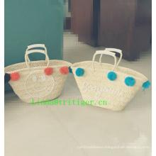 high quality handbag plastic straw woven tote bags