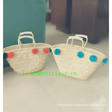 high quality handbag plastic straw woven tote bags
