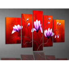 Peinture à l'huile de fleur de groupe fleur