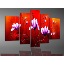 Group Blossom Flower Oil Painting