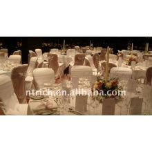 Tampa da cadeira banquete padrão, CT040 poliéster material, durável e fácil lavável