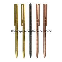 Rose Gold schlankes Metall-Kugelschreiber (LT-D026)