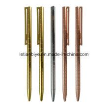 Rose Gold Slim Metal Ball Pen (LT-D026)