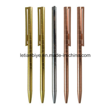 Rose Gold Slim Metal bola caneta (LT-D026)