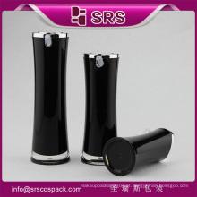 Radian forma garrafa de cosméticos elegante, fabricação de luxo preto bomba loção garrafas