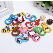 Facotry Custom cartoon soft pvc Bottle opener