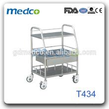 Équipement de l'hôpital Carottes en acier inoxydable Trolley chirurgical T434
