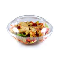 Cuenco de ensalada desechable con tapa