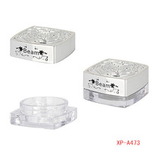 Charming Silver Compact Powder Container