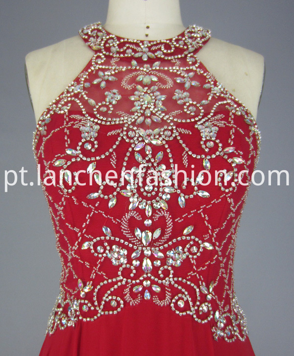 Beading Red Dress