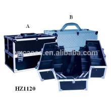 caso cosmético de aluminio de alta calidad con bandeja interior fabricante