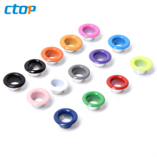 Wholesale environment for clothing metal stainless steel fashion eyelet oval eyelet for shoes