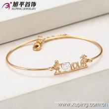 Новый Xuping моды 18k Золото Довольно Сертифицированный кубический цирконий браслет