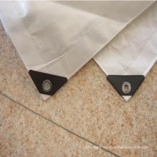 100% virgin uv treated transparent protection cover / transparent tarpaulin with eyelet &;black corner