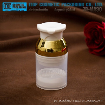 ZB-MA30 30ml single layer thick wall good quality special round bpa free plastic cosmetic container