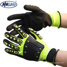 NMSAFETY puncture cut resistant gloves cheap protection mechanic gloves anti impact glove