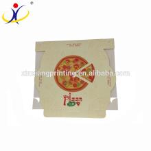 ¡Logotipo modificado para requisitos particulares! Impresión personalizada del cartón de la salida de la pizza del cartón blanco del diseño