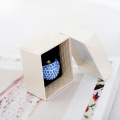 Timeless cardboard jewelry box for wedding rings