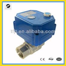 Válvula de esfera CC12V com motor elétrico com função de retorno de sinal de 5 fios para equipamento pequeno para sistema de controle automático