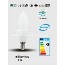 Vela de LED regulable C37-Sbl