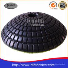 Diamond Pad: 100мм алмазный выпуклый полировальный коврик