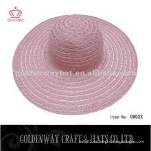 Señora verano sombrero hermoso color de la mezcla de poliéster diseño promocional