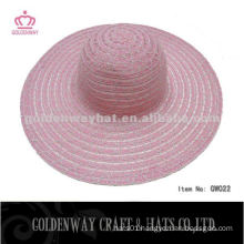 Lady summer hat beautiful polyester mix color promotional design