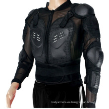 Chaquetas de moto de la armadura del cuerpo de la motocicleta vendedora caliente para hombres con armadura
