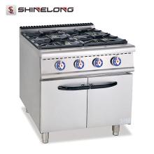 Gamme universelle de gaz de la série 900 avec le brûleur à 4 brûleurs avec la gamme de gaz résistante de Cabinet