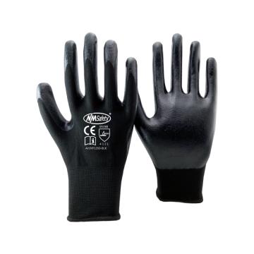 Nmsafety 13 калибровочных нейлон вязаный черный гладкий нитрил маслостойкий рабочие перчатки