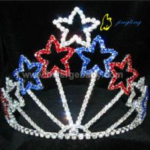 Cheap custom colored patriotic star crowns