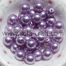 Wholesale Loose Round Pearl Plastic Beads 6MM Purple Pearl Beaded Hair Accessory