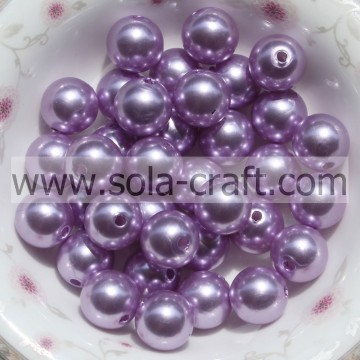 Sciolto tondo perle di plastica all'ingrosso perline accessorio di capelli perline perle 6 MM viola
