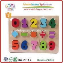 OEM mehrfarbige pädagogische hölzerne DIY Zahlpuzzlespielspielwaren für Kinder