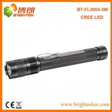 Fabrikverkauf Aluminium XPE 3Watt CREE 2 * AA angetriebene geführte beste Fackel-helle Taschenlampe mit Klipp