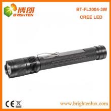 Factory Sale Aluminium XPE 3Watt CREE 2 * AA Powered led La meilleure lampe torche avec clip