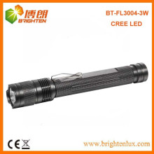Factory Sale Aluminium XPE 3Watt CREE 2*AA Powered led Best Torch Light Flashlight with clip