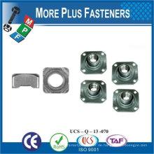 Made in Taiwan Edelstahl Messing Aluminium Silikon Bronze Square Weld Nuts DIN 928