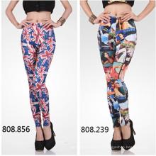 Nova moda padrão mulheres 3D impressão elástico Leggings (82230)