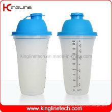 500ml Plastik Shaker Flasche mit Filter und Lanyard (KL-7067)