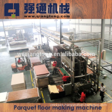 2015 Parquet wood laminating flooring making machine / Floor production line