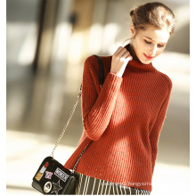 Women′s Fashion Cashmere Sweater Turtle Neck 16brdw001