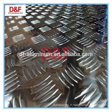 Plaque de roulement en aluminium à 5 barres