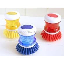 Cocina cepillo de plástico de limpieza para plato, olla y olla (ZT10011)