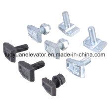 Abrazadera de riel guía tipo T para piezas de elevador (TY-TRC001)