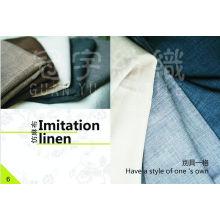 Tejido de tapicería Tejido de lino 100% poliéster para sofá