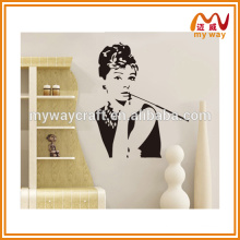 2016 fashion famous star theme black wall decor stickers
